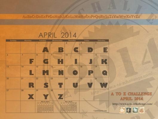 A to Z 2014 Calendar
